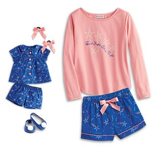 Starry Pajamas for Girls & 18-inch Dolls