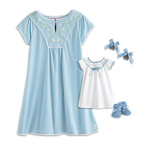 Addy's Embroidered Nightgown for Dolls & Girls