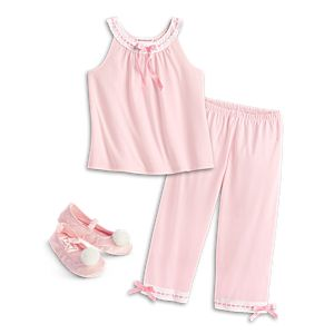 Ribbons & Bows Pajamas & Slippers for Girls