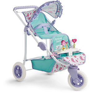 Bitty's Double Stroller & Toy Garden