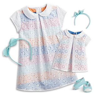 Sunny Flowers Outfit for Little Girls & Bitty Baby™ Dolls