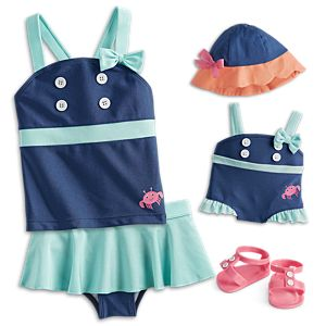 Seaside Fun Swimsuit for Little Girls & Bitty Baby™ Dolls