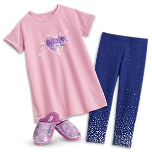 Comfy Space PJs & Sparkling Star Slippers for Girls