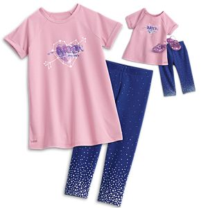 Luciana Vega's PJs for Girls & 18-inch Dolls