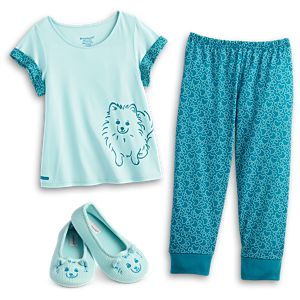 Pomeranian Pajamas & Slippers for Girls