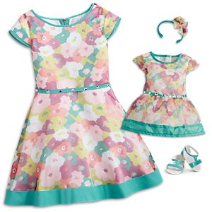 Bright Blooms Dress for Girls & 18-inch Dolls