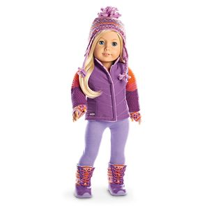 Warm Winter Outfit & Accessories for 18-inch Dolls