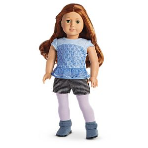 Peplum Top & Tweed Shorts Outfit for 18-inch Dolls