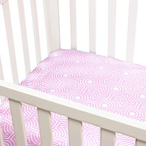 Fitted Crib Sheet - Pink Sorrento Printed