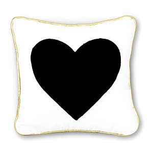 Decorative Heart Pillow with Gold Trim
