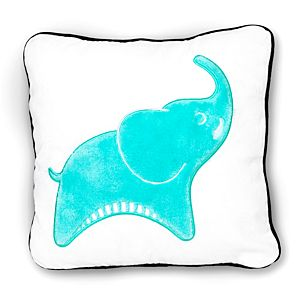 Decorative Elephant Pillow with Black Piping Trim