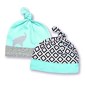 2 Pack Supima Hats - Elephant Print