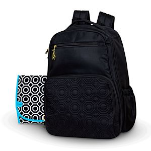 Black Quilted Diaper Backpack