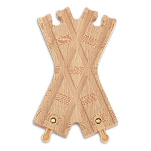 "Thomas & Friends™ Wooden Railway Track Piece X-Track 6.0"" Female/Female/Male/Male"