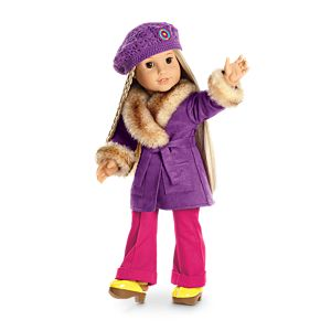 Julie's Winter Coat & Hat for 18-inch Dolls