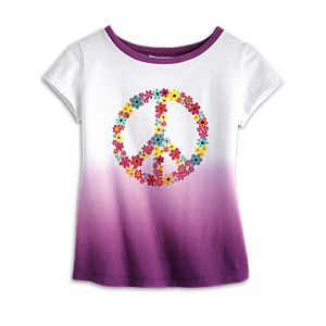 Peace Petals Tee for Girls