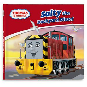 Thomas & Friends™ Wooden Railway Salty the Dockyard Diesel Book