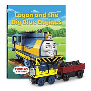 Thomas & Friends™ Wooden Railway Logan and the Big Blue Engines Book Pack