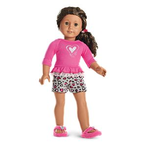 Lovely Leopard PJs for 18-inch Dolls