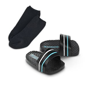 Sporty Sandals & Socks Set