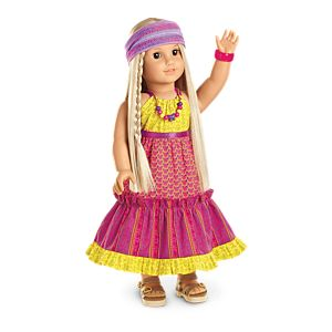 Julie's Mix-Print Maxi Dress for 18-inch Dolls