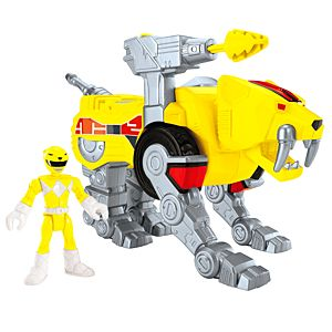 Imaginext® Power Rangers Yellow Ranger and Sabertooth Zord