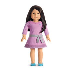 Lilac Dress for 18-inch Dolls
