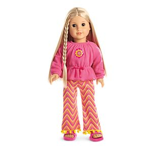 Julie's Zigzag Pajamas for 18-inch Dolls