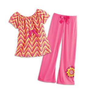 Zigzag Pajamas for Girls