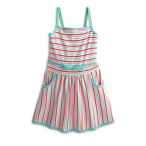 Striped Sweetheart Dress for Girls
