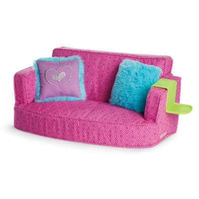 comfy couch tm american girl rh americangirl com 18 inch dolls and accessories 18 inch dolls at target