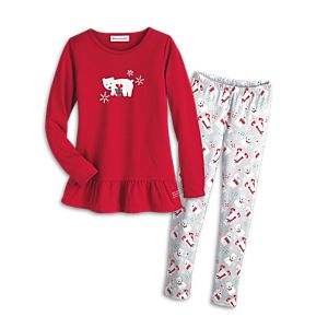 Playful Polar Bear Pajamas for Girls
