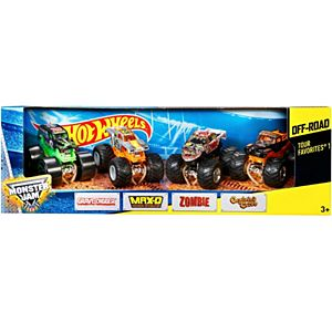 Hot Wheels® Monster Jam® Tour Favorites® 1 Vehicle 4-Pack