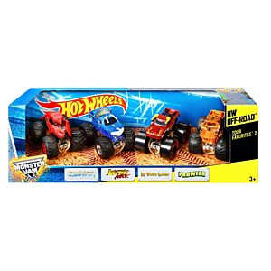 Hot Wheels® Monster Jam® Tour Favorites® 2 Vehicle 4-Pack