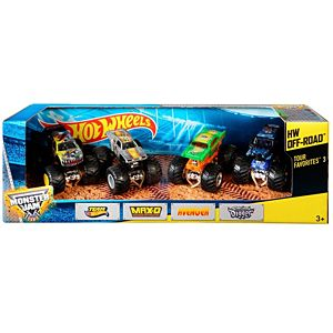 Hot Wheels® Monster Jam® Tour Favorites® 3 Vehicle 4-Pack