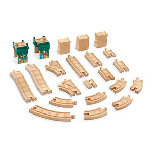 Thomas & Friends™ Wooden Railway Logan and the Big Blue Engines Track Pack