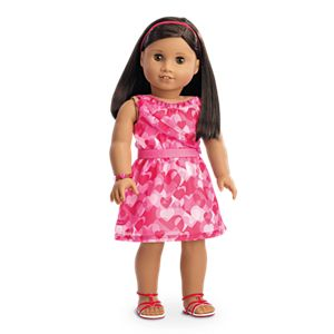 Red Hearts Ruffle Outfit for 18-inch Dolls