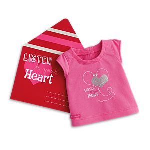 Valentine Tee Gift Set for 18-inch Dolls