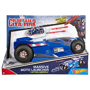 Hot Wheels® Marvel™ Massive Moto Launcher Captain America™