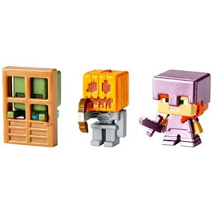 Minecraft® Mini Figure 3-Pack #3 - Obsidian Series