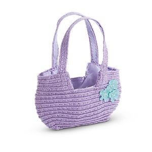 Woven Flower Purse for Dolls