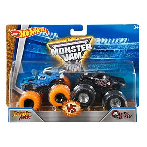 Hot Wheels® Monster Jam® Demolition Doubles® Jurassic Attack® vs Metal Mulisha®
