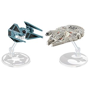 Hot Wheels® Star Wars™ TIE Interceptor™ vs. Millennium Falcon™ Starship 2-Pack