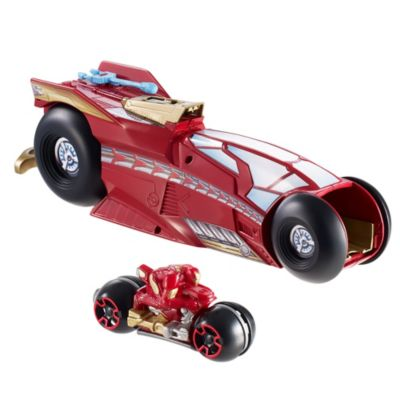 hot wheels marvel massive moto launcher iron