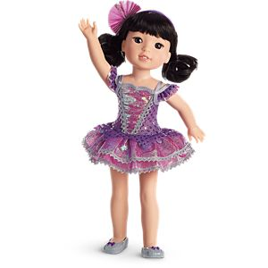 Showtime Ballet Costume for WellieWishers Dolls