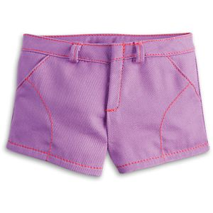 Purple Play Shorts for 18-inch Dolls