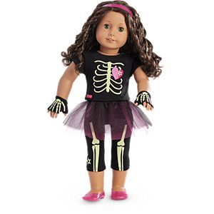 Skeleton Outfit for 18-inch Dolls