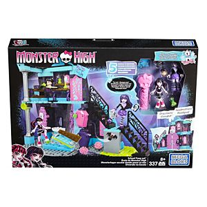 Mega Bloks® Monster High® School Fang Out School Play Set With Draculaura and Elissabat Dolls