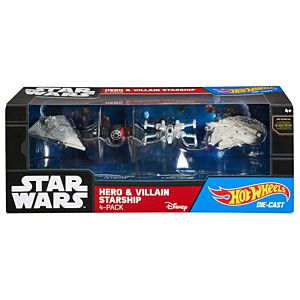 Hot Wheels® Star Wars™ Hero & Villain Starship 4-pack