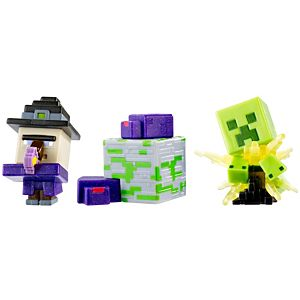 Minecraft Mini Figure 3-Pack - Potion Witch, Exploding Creeper, Endermites